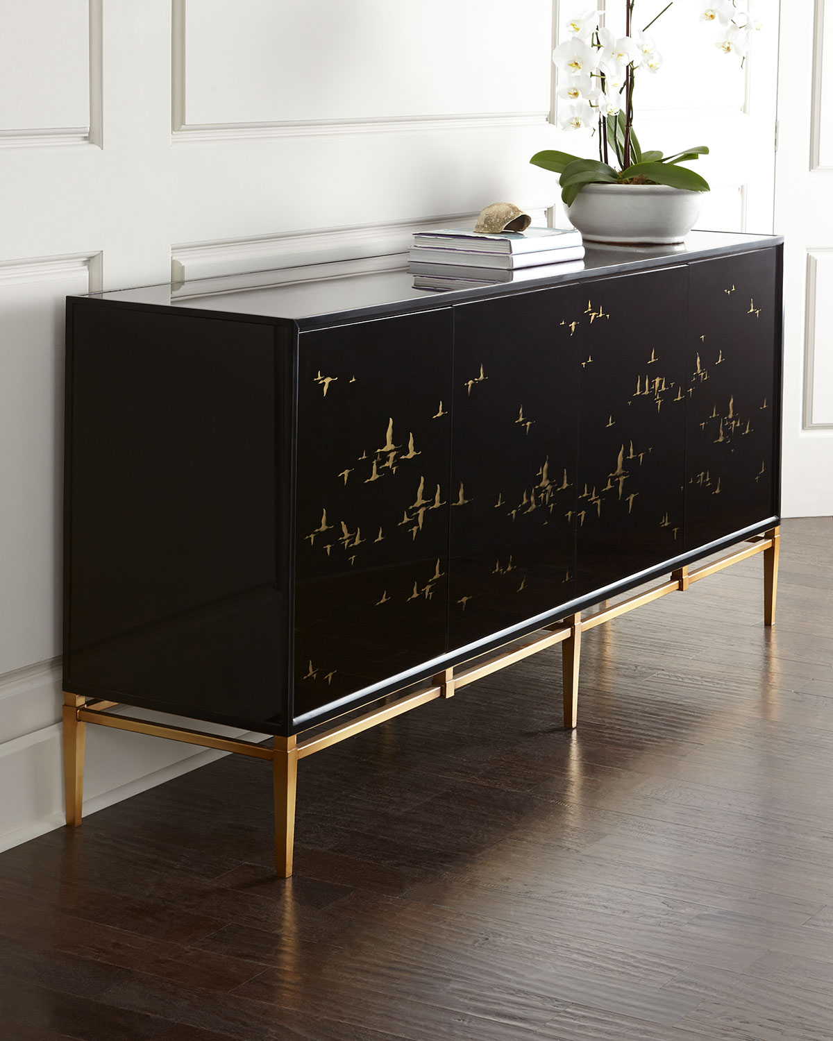 console for living room the most stylish black consoles for living room 17245