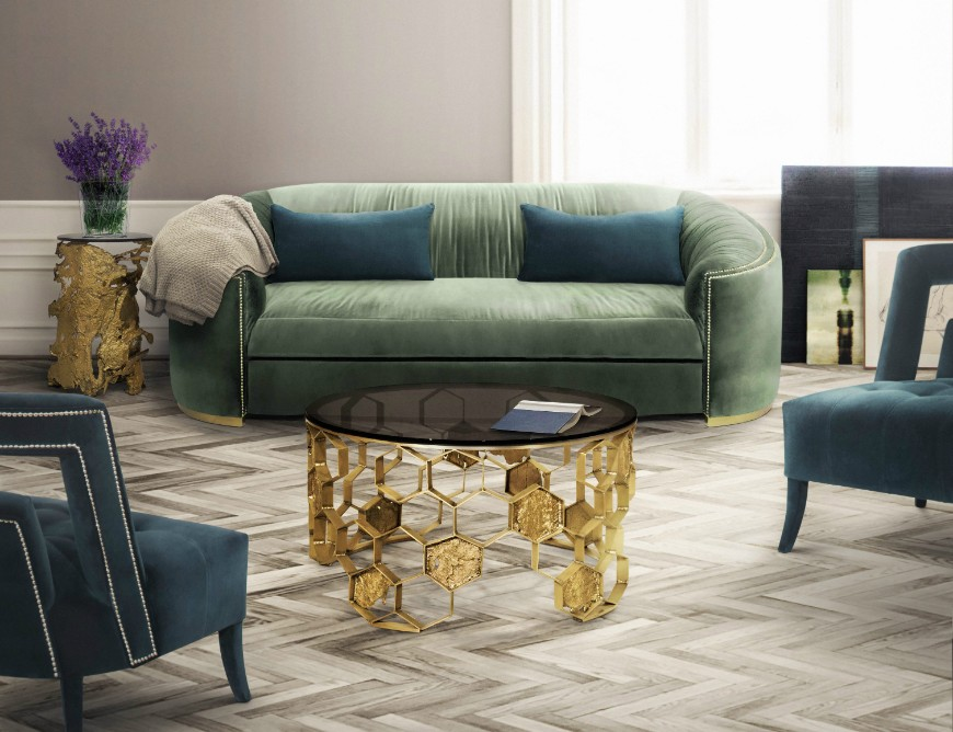 Trends 2019 the best green sofas for your living room - 2019 living room trends ...