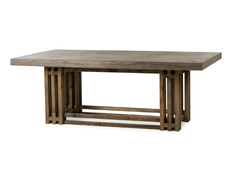 dining tables dining tables The perfect dining tables to set the mood for 2019 Thomas Bina by Resource Decor Conrad Dining Table Mixed Wood Cement