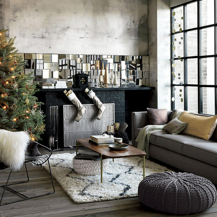 modern sofas Modern Sofas Color Ideas for Your Christmas Decor 30 modern christmas decor ideas for delightful winter holidays 26