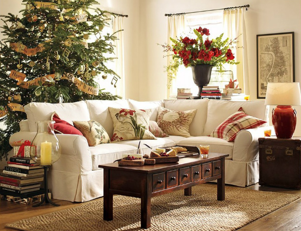 modern sofas Modern Sofas Color Ideas for Your Christmas Decor Christmas lounge