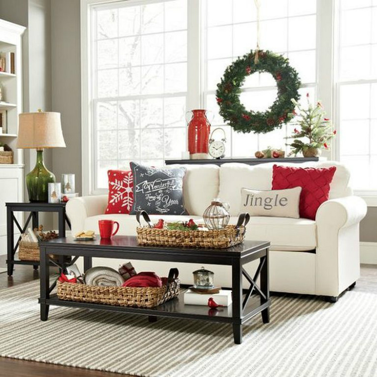 Modern Sofas modern sofas Modern Sofas Color Ideas for Your Christmas Decor christmas living room 9