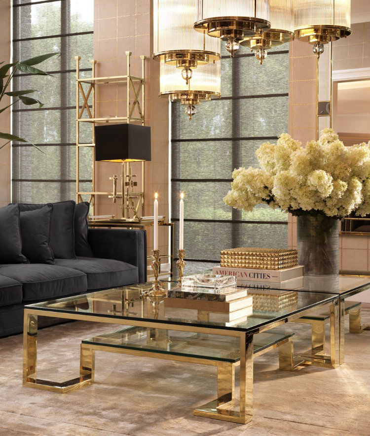 2019 interior design trends  2019 interior design trends 2019 Interior Design Trends: Center Tables to Give Life to Your Space Eichholtz Huntington Coffee Table Lifestyle