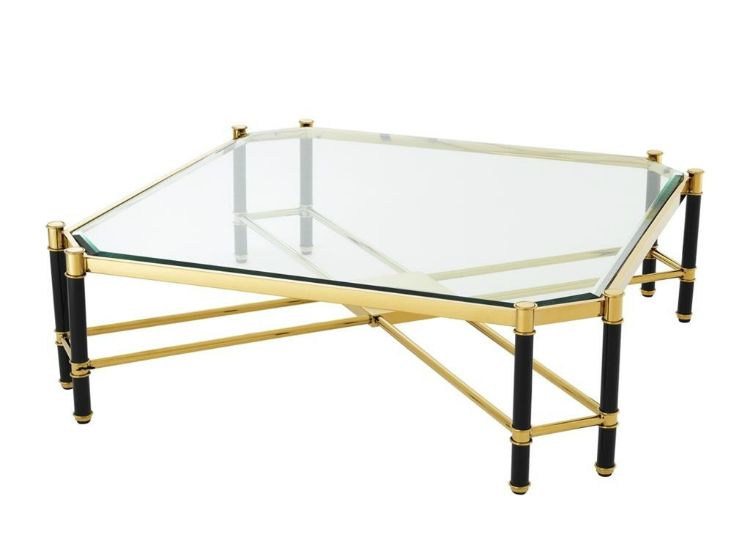 2019 interior design trends  2019 interior design trends 2019 Interior Design Trends: Center Tables to Give Life to Your Space Florence Gold Black Coffee Table by James Said