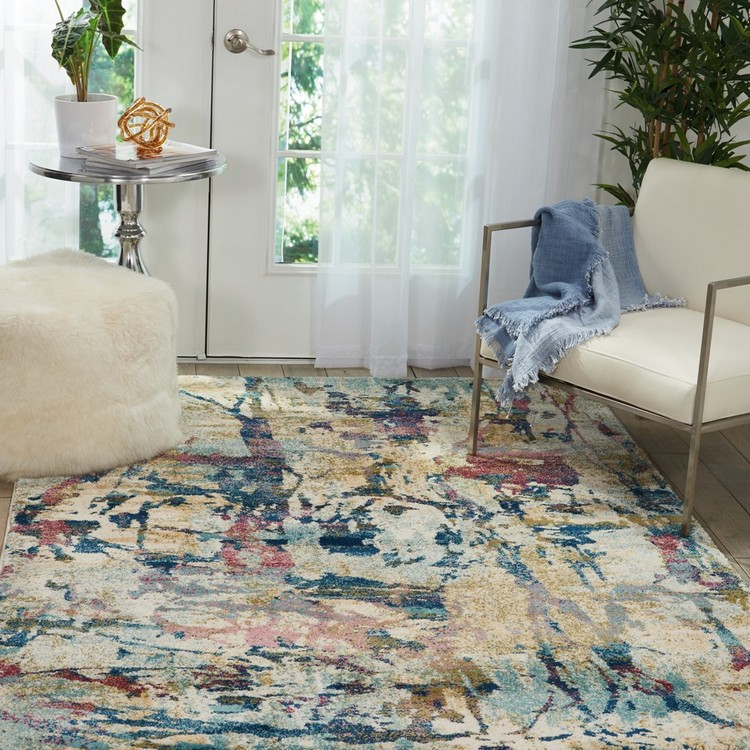 contemporary rugs The Most Dazzling Contemporary Rugs for Your Living Room Decor Fusion Ivory Rug by Longweave