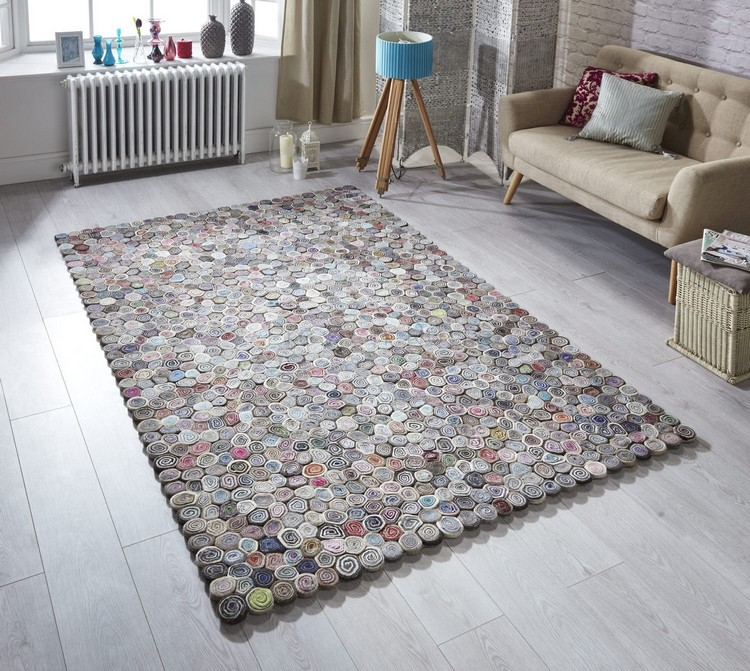 contemporary rugs The Most Dazzling Contemporary Rugs for Your Living Room Decor Harbor Hand Woven PurpleBrown Rug by Latitude Vive