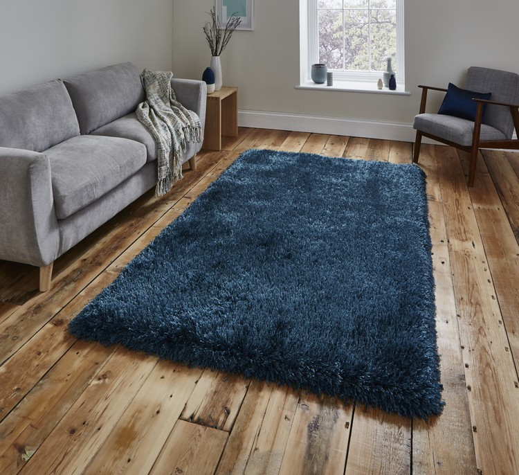 contemporary rugs The Most Dazzling Contemporary Rugs for Your Living Room Decor Montana Hand Tufted Steel Blue Rug by Savoy House